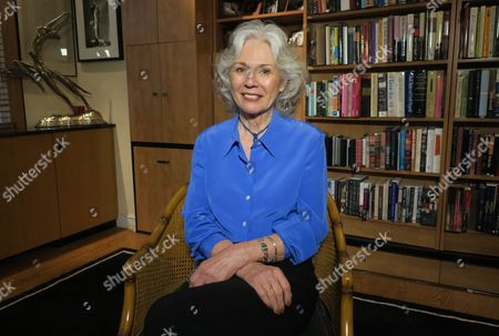 Author Kathryn Leigh Scott, a former Playboy bunny at the New York club, appears at her home in New York on . Scott trained at the club in January 1963, at age 19. Playboy founder Hugh Hefner died Wednesday, Sept. 27 at age 91