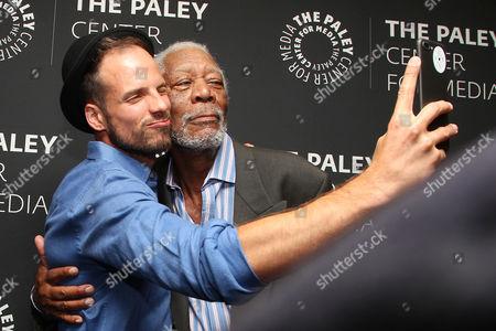 Joshua Coombes and Morgan Freeman