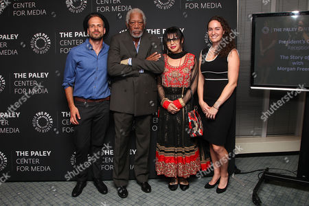 Joshua Coombes, Morgan Freeman, Victoria Kahn and Megan Phelps-Roper