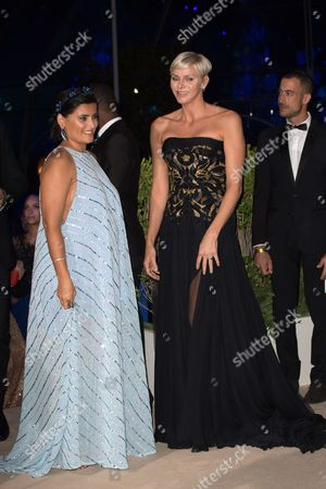 Princess Charlene of Monaco and Nelly Furtado