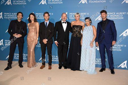 Adrien Brody, Olga Kurylenko, Lior Suchard, Prince Albert II of Monaco, Princess Charlene of Monaco, Nelly Furtado and Robin Thicke