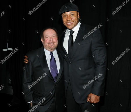 SEPTEMBER 15: (L-R) Ken Ehrlich and LL Cool J attend the Governors Ball at the Academy of Television Arts & Sciences 64th Primetime Creative Arts Emmy Awards at Nokia Theatre L.A. Live on in Los Angeles, California