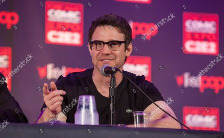 Actor Eddie McClintock during the Warehouse 13 panel at the Chicago Comic & Entertainment Expo at McCormick Place, in Chicago