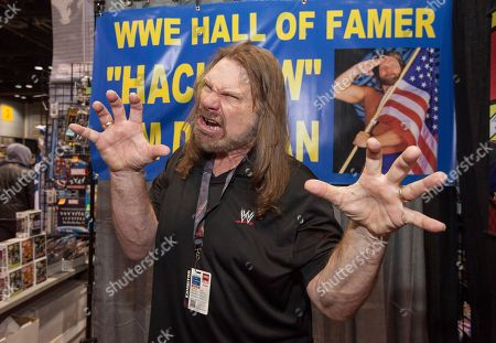 WWE Hall of Fame wrestler Jim Duggan, aka Hacksaw, at the Chicago Comic & Entertainment Expo at McCormick Place, in Chicago