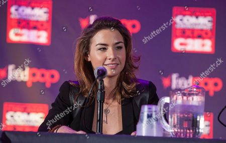 Actress Allison Scagliotti during the Warehouse 13 panel at the Chicago Comic & Entertainment Expo at McCormick Place, in Chicago