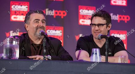 Actors Saul Rubinek and Eddie McClintock during the Warehouse 13 panel at the Chicago Comic & Entertainment Expo at McCormick Place, in Chicago