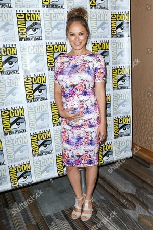 """Moon Bloodgood attends the """"Falling Skies"""" press line on day 2 of Comic-Con International, in San Diego"""