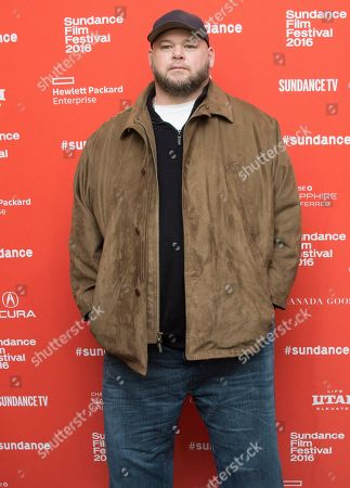 """Actor Keith Loneker poses at the premiere of """"Outlaws and Angels"""" during the 2016 Sundance Film Festival, in Park City, Utah"""