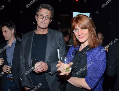 Stock Picture of Pawel Pawlikowski and Rebecca Lenkiewicz attend 87th Academy Awards - Foreign Language Nominees Cocktail Reception at the Future Home of the Academy Museum of Motion Pictures on in Los Angeles, California