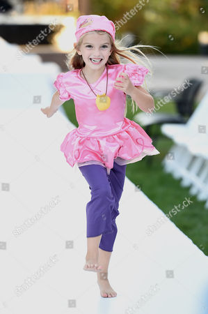 """Mia Talerico, dressed up as Izzy from """"Jake and the Never Land Pirates"""", is seen at Disney Consumer Products' VIP Halloween Event on in Glendale, Calif"""