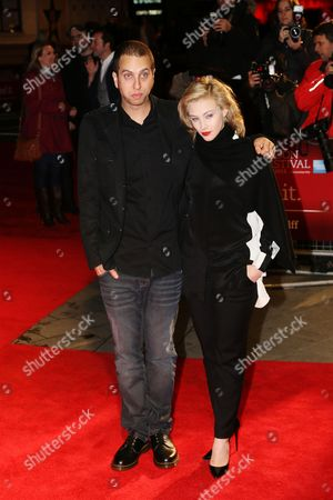 """Sarah Gadon and Brandon Cronenberg arrive at screening for """"Antiviral"""" during the London Film Festival at The Odeon, Leicester Square on in London UK"""