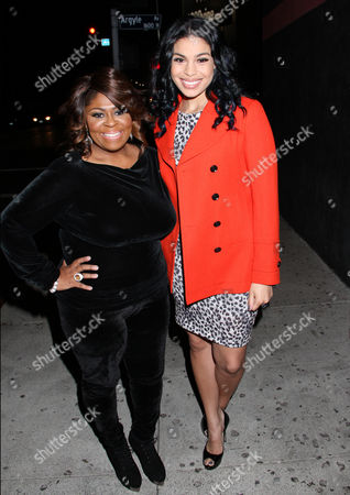 "Kim Burrell, left, and Jordin Sparks attend ""For the Love of R&B - A Tribute to Whitney Houston"" at Tru Hollywood, in Los Angeles"