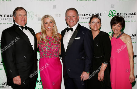 Brian and Paqui Kelly, center right, are pictured with Bill Belichick and his partner Linda Holliday, left, and Myra Biblowit, right, at the Kelly Cares Foundation's 5th Annual Irish Eyes Gala at the JW Marriot Essex House, on in New York. Established in 2008 by Notre Dame head football coach Brian Kelly and his wife Paqui, the Kelly Cares Foundation has donated over $2 million to support causes locally, nationally and globally