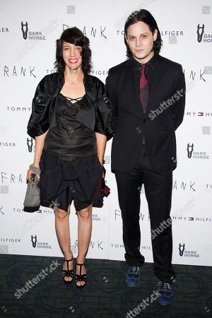 """Carla Azar, left, and Jack White attend the """"Frank"""" premiere, in New York"""