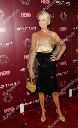 "Model Karen Bjornson attends an HBO documentary premiere for ""About Face: Supermodels Then And Now"" at The Paley Center For Media on in New York"