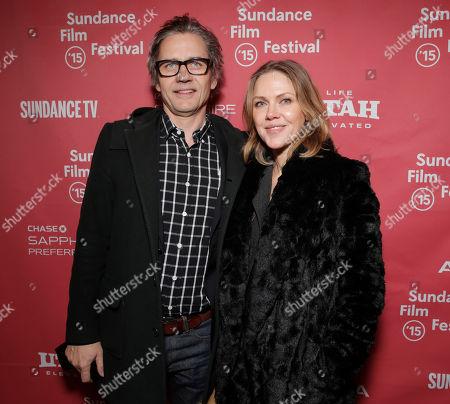 "Composers Dean Wareham (L) and Britta Phillips attend the 2015 Sundance Film Festival Premiere of Fox Searchlight's ""Mistress America"", in Park City, Utah"