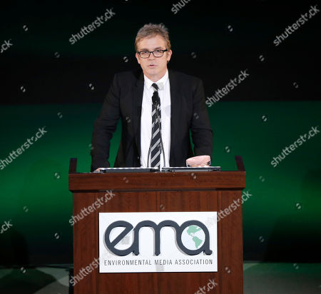 Executive producer Brannon Braga accepts award for 'Cosmos: A SpaceTime Odyssey' onstage at the 24th Annual Environmental Media Awards at Warner Bros. Studios on in Burbank, Calif