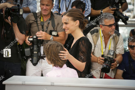 Director and actor Natalie Portman and actor Amir Tessler pose for photographers at the photo call for the film A Tale of Love and Darkness, at the 68th international film festival, Cannes, southern France