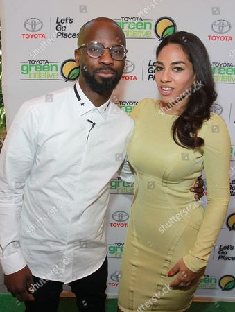 Bryan Michael Cox and Sharon Carpenter are seen at the Bryan Michael Cox Breakfast Club Pre Grammy Brunch presented by Toyota Green Initiative and Music & Memory at the Four Season Hotel Beverly Hills on in Los Angeles, CA