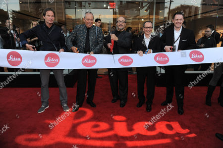 From left, Steffen Keil, Vice-President of Sales of Leica Camera AG, Alfred Schopf, CEO of Leica Camera AG, Dr. Andreas Kaufmann, Chairman of the Leica Camera AG Supervisory Committee, Roger Horn, President of Leica Camera USA and Roland Wolff, Vice-President of Sales of Leica Camera USA attend the Leica Store Los Angeles Grand Opening on in Los Angeles