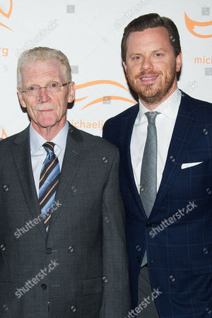 "Bill Geist and Willie Geist attend The Michael J. Fox Foundation for Parkinson's Research benefit, ""A Funny Thing Happened on the Way to Cure Parkinson's,"" at the Waldorf Astoria, in New York"