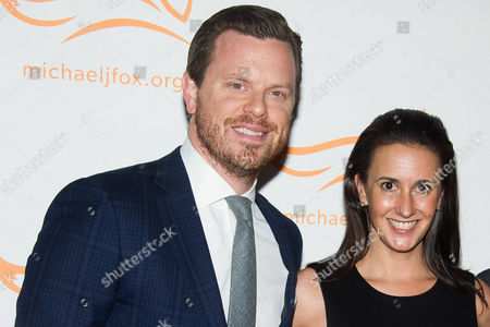 """Willie Geist and Christina Geist attend The Michael J. Fox Foundation for Parkinson's Research benefit, """"A Funny Thing Happened on the Way to Cure Parkinson's,"""" at the Waldorf Astoria, in New York"""