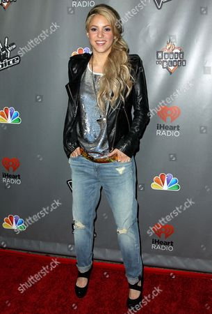 """Stock Picture of Shakira arrives at """"The Voice"""" season 4 red carpet event at the House of Blues, in Los Angeles. A Los Angeles judge dismissed a lawsuit against the singer, filed by her ex-boyfriend, Antonio de la Rua, seeking millions he claims he is owed millions of dollars for help developing the Colombian-born singer into a global superstar"""