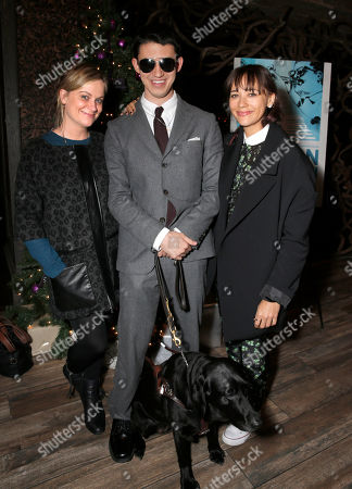 "Amy Poehler, Justin Kauflin (and dog Candy) and Rashida Jones attend a Special Screening of Radius-TWC's ""Keep on Keepin' On"" at iPic Westwood 6 on in Westwood, Calif"
