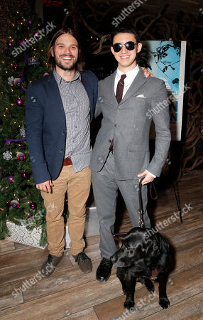 "Director Alan Hicks and Justin Kauflin (and dog Candy) attend a Special Screening of Radius-TWC's ""Keep on Keepin' On"" at iPic Westwood 6 on in Westwood, Calif"