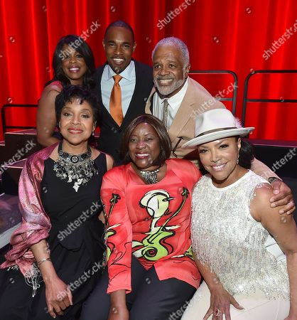 Niecy Nash, from top left, Jason George, Ted Lange, from bottom left, Phylicia Rashad, Loretta Devine, and Lynn Whitfield at the Television Academyâ?™s 70th Anniversary Gala and Opening Celebration for its new Saban Media Center, in the NoHo Arts District in Los Angeles