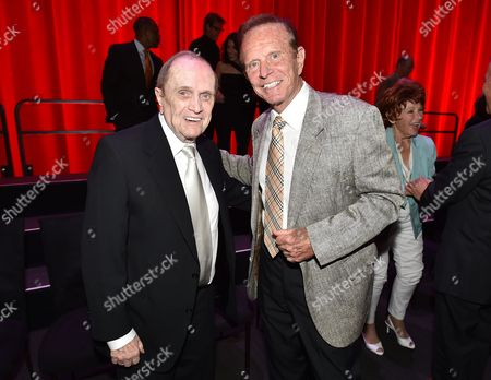 Bob Newhart, left, and Bob Eubanks at the Television Academy's 70th Anniversary Gala and Opening Celebration for its new Saban Media Center, in the NoHo Arts District in Los Angeles