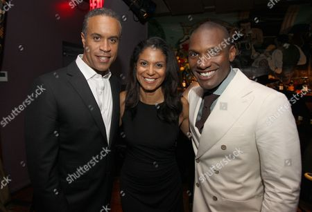 Maurice DuBios, Andrea DuBios and Noah Stewart attend a special performance of Noah Stewart at Minton's presented bye Hennessy Privilege on in New York