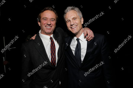 Robert F. Kennedy Jr., left, and co-founder of MTV and VH1 Cable Networks John Sykes attend unite4:good and Variety's unite4:humanity at Sony Pictures Studios, in Culver City, Calif