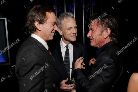 From left, Robert F. Kennedy Jr., co-founder of MTV and VH1 Cable Networks John Sykes and Sean Penn attend unite4:good and Variety's unite4:humanity at Sony Pictures Studios, in Culver City, Calif