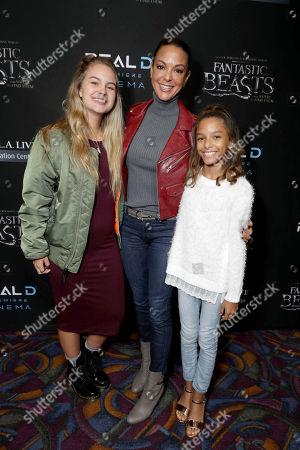 """Kaya McKenna Callahan, Eva LaRue and Kayin Quinn seen at Warner Bros' """"Fantastic Beasts and Where to Find Them"""" Los Angeles Screening at Regal LA, in Los Angeles"""