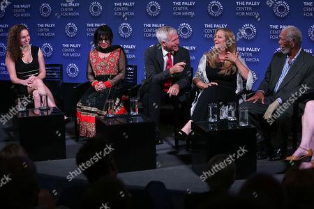 Megan Phelps-Roper, Victoria Kahn, James Younger, Lori Mccreary and Morgan Freeman