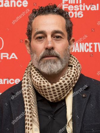 """Actor Waleed Zuaiter poses at the premiere of """"The Free World"""" during the 2016 Sundance Film Festival, in Park City, Utah"""