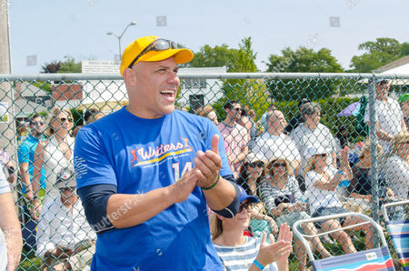 Jim Leyritz attends the 66th Annual Artists and Writers Softball Game in East Hampton on in New York