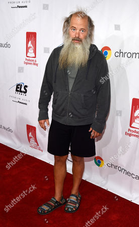 Music producer Rick Rubin poses on the red carpet at the ninth annual Grammy Week Event honoring him at The Village Recording Studios, in Los Angeles