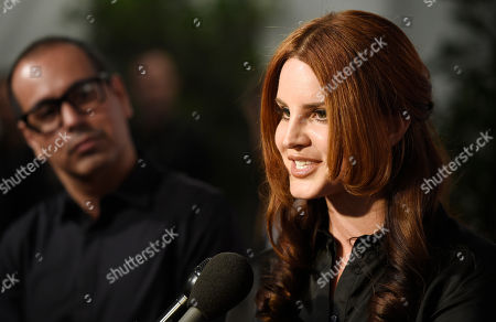 Singer Lana Del Rey is interviewed at the 9th Annual Grammy Week Event Honoring Rick Rubin at The Village Recording Studios, in Los Angeles