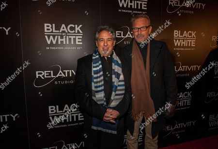 Producer Rod Lake and actor Kevin Costnerr during the Chicago screening of Relativity Media's Black or White at the Kerasotes ShowPlace ICON on in Chicago
