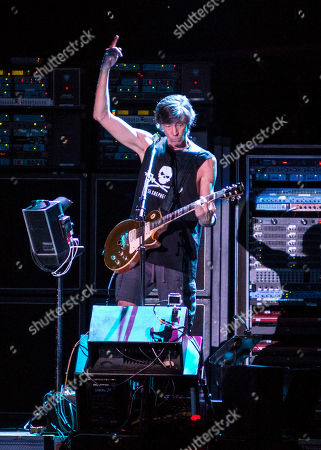 Tom Scholz with Boston performing as part of the Heaven On Earth Tour at Verizon Wireless Amphitheater at Encore Park, in Atlanta