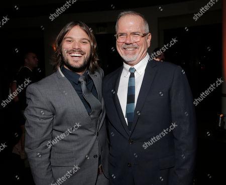 Alan Hicks and IDA Executive Director Michael Lumpkin attend the International Documentary Association's 2014 IDA Documentary Awards at Paramount Studios on in Los Angeles