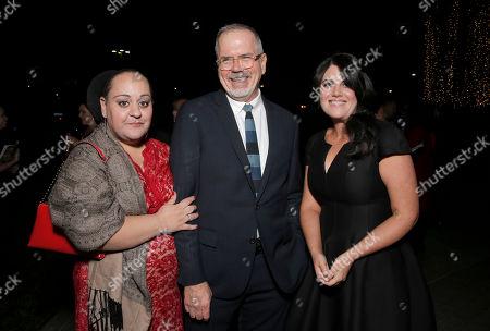IDA President Marjan Safinia, IDA Executive Director Michael Lumpkin and Monica Lewinsky attend the International Documentary Association's 2014 IDA Documentary Awards at Paramount Studios on in Los Angeles