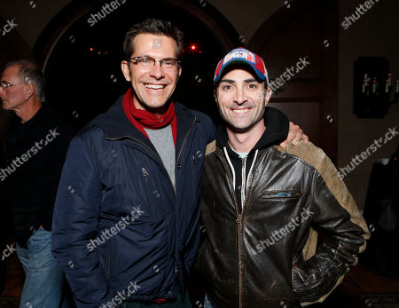 """Peter Huyck and Darren Capozzi attend the after party for the LA premiere of """"The Last Stand"""" at Grauman's Chinese Theatre, in Los Angeles"""