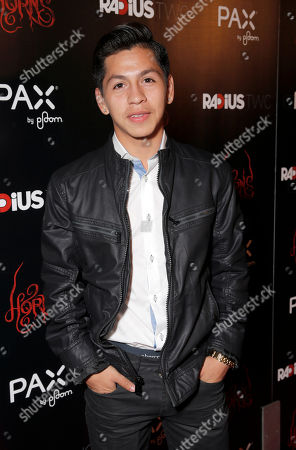 "Stock Picture of Kevin Hernandez attends a special screening of Radius-TWC's ""Horns"" presented by PAX by Ploom at ArcLight Hollywood on in Hollywood, Calif"