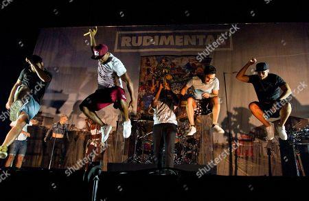 Amir Amor, Anne-Marie, Bridgette Amofah, DJ Locksmith, Mark Crown, Kesi Dryden and Piers Aggett of English band Rudimental opened for Ed Sheeran at the Gwinnett Center Arena, in Atlanta, Ga