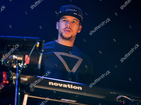 Stock Picture of Piers Aggett of English band Rudimental opened for Ed Sheeran at the Gwinnett Center Arena, in Atlanta, Ga