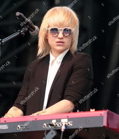 Anna Bulbrook of The Airborne Toxic Event performs in concert during the Radio 104.5 Summer Block Party at Festival Pier, in Philadelphia