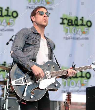 Stock Photo of Mikel Jollett of The Airborne Toxic Event performs in concert during the Radio 104.5 Summer Block Party at Festival Pier, in Philadelphia
